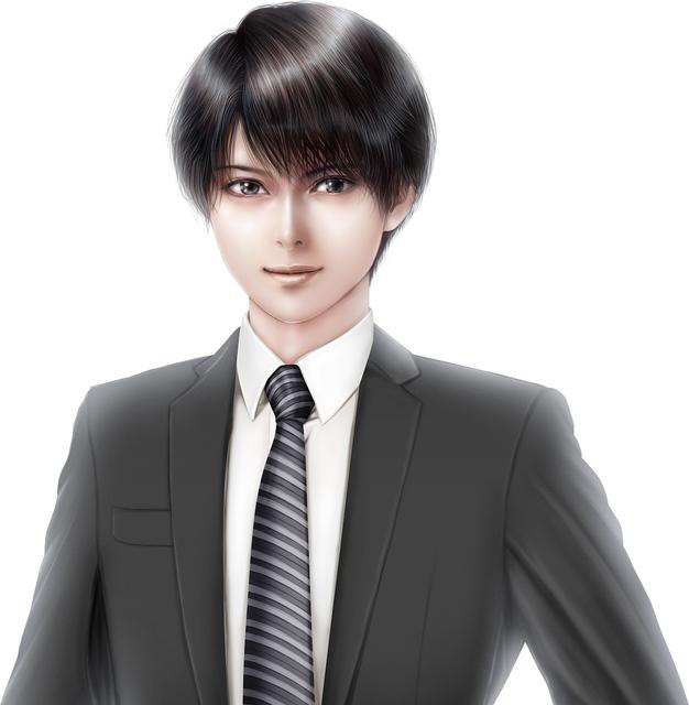 黒のスーツを着た美形男性モデル顔アップ(上田ひろこさん).jpg